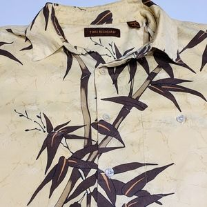 Tori Richard Hawaiian Camp Bamboo Silk Shirt Large